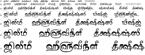 Tam Shakti 13 Tamil Font