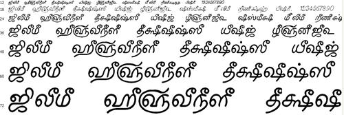 Tam Shakti 16 Tamil Font