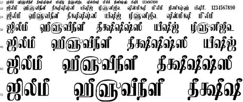 Tam Shakti 22 Tamil Font