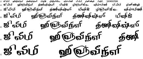Tam Shakti 36 Tamil Font