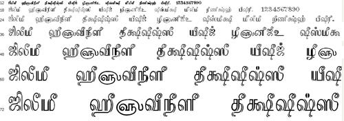 PalarTSC Tamil Font