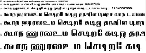 Elcot Thanjavur Tamil Font