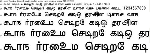 Anangu Valluvar Tamil Font