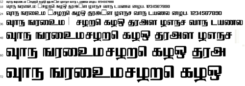 Kaanada Tamil Font