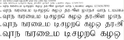 Mathi Tamil Font