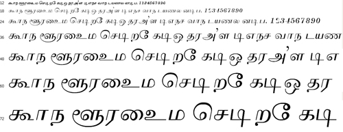 Priya Tamil Font