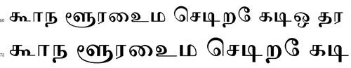 Sashi Tamil Font
