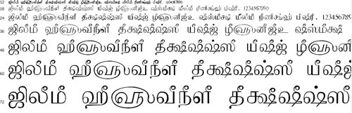 Tam Shakti 1 Tamil Font