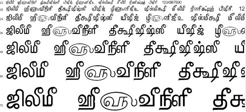 Tam Shakti 5 Tamil Font