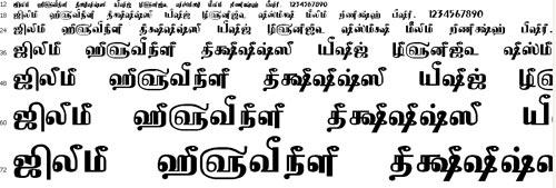 Tam Shakti 14 Tamil Font