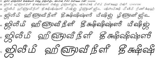 Tam Shakti 17 Tamil Font