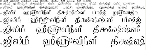 Tam Shakti 18 Tamil Font