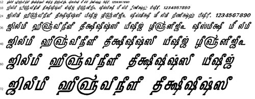 Tam Shakti 31 Tamil Font