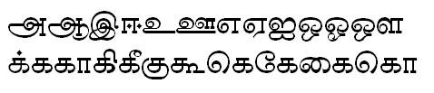 Sundaram-0821 Tamil Font