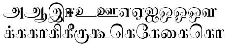 Sundaram-0827 Tamil Font