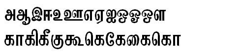 Tab-Kannadasan Tamil Font