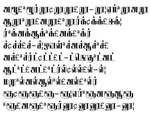 GIST-TMOTAbhirami Tamil Font