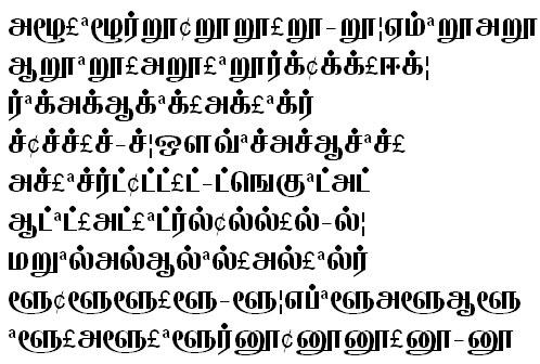 GIST-TMOTAppar Tamil Font