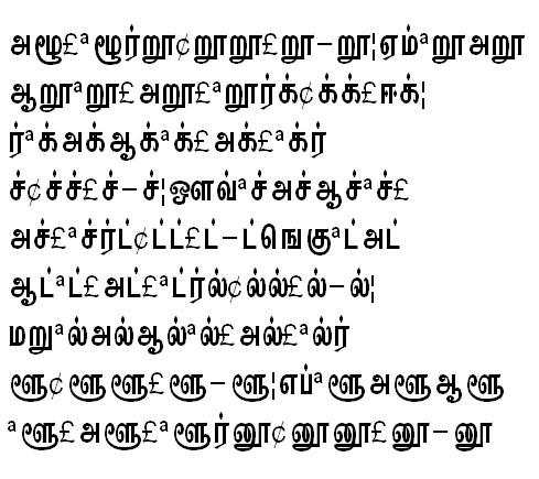 GIST-TMOTKannadasan Tamil Font