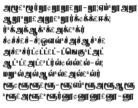 GIST-TMOTKannagi Tamil Font