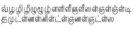 TAU-Kaveri Tamil Font